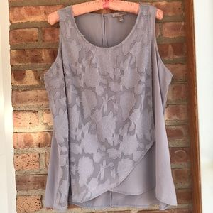 Grey with lace detailing top